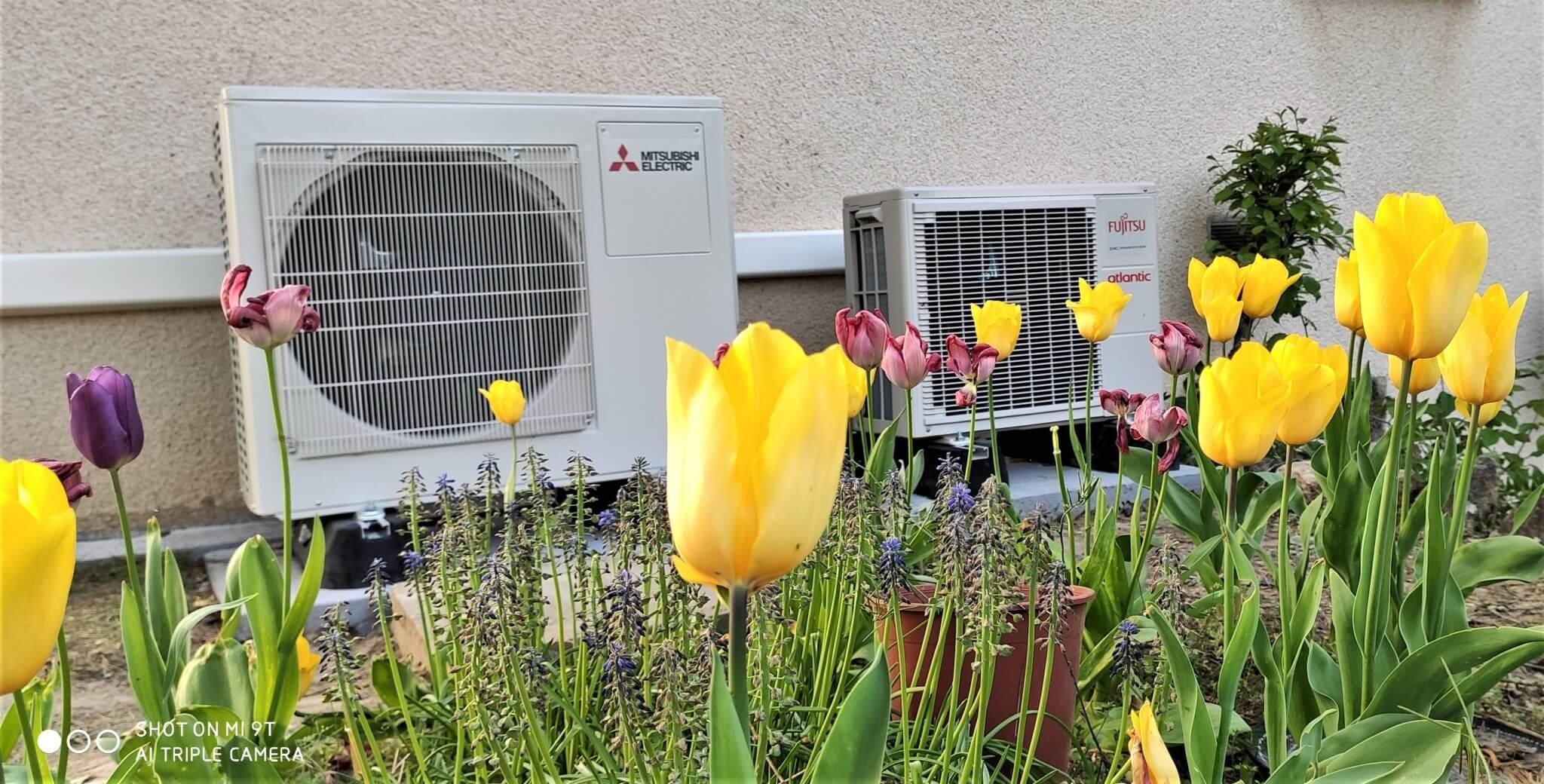 pompe a chaleur installation pompe à chaleur mitsubishi, ballon thermodynamique Atlantic, pac air air, clim